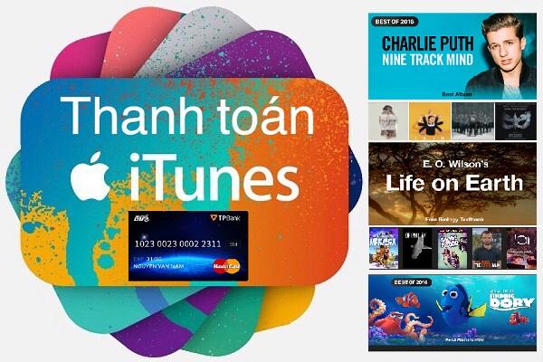 Mua ứng dụng trên Itunes bằng thẻ VTCMastercard